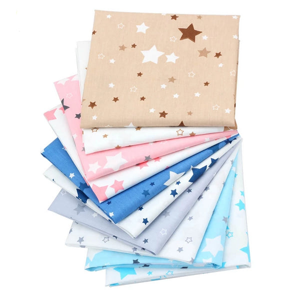 Assorted Colors Star Collection Twill Cotton Fabric - 15.7