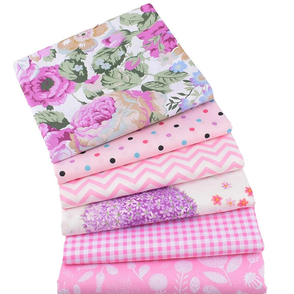 Cute Pink Printed Collection Twill Cotton Fabric - 15.7