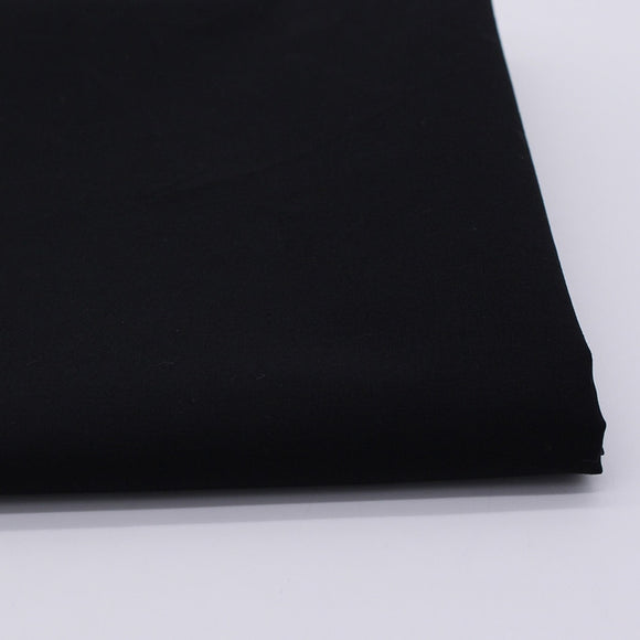 Solid Black Color Cotton Fabric - 19.7