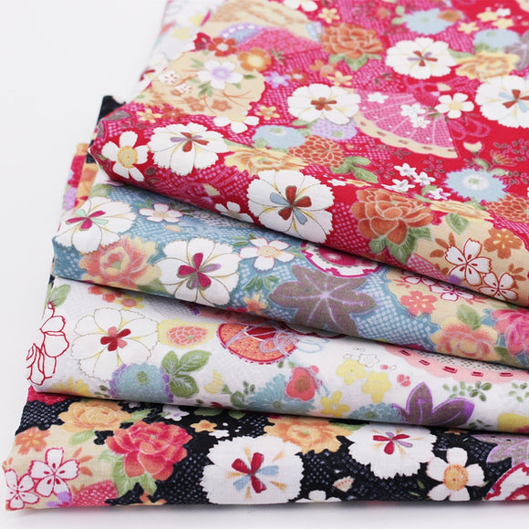 Japanese Inspired Cotton Fabric - 19.7