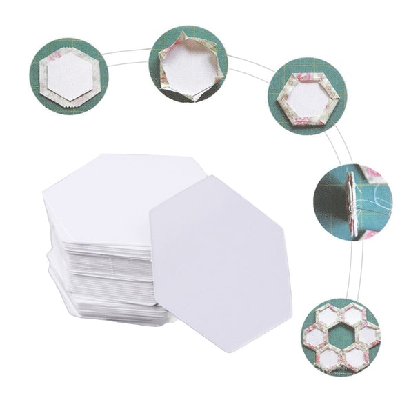 Hexagon Paper Quilting Templates - 100pcs/Pack