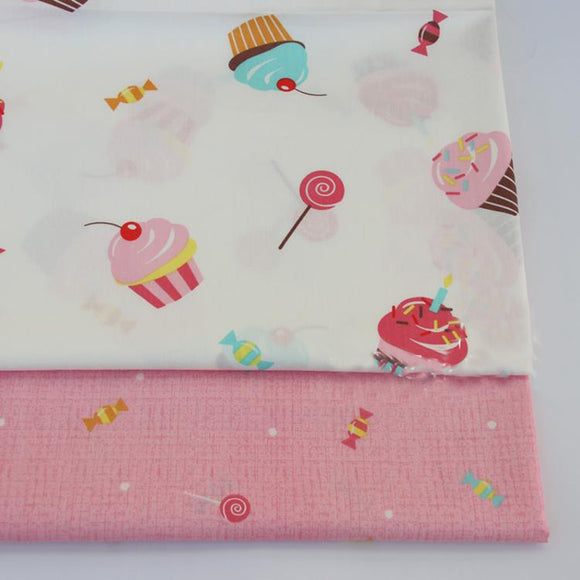 Sweet Print Twill Cotton Fabric - 19.7