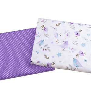 Baby Violet Pack Twill Cotton Fabric - 2pcs/Pack