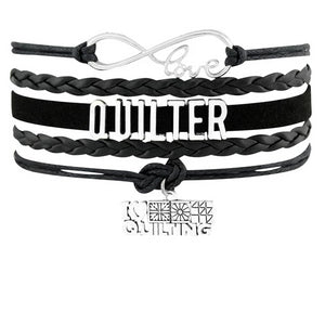 Quilters/Sewing Leather Braided Bracelet