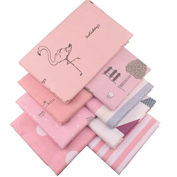 Cute Prints Pink Series Twill Cotton Fabric - 15.7
