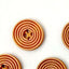 Wooden Spiral Design Buttons - 100pcs/Pack