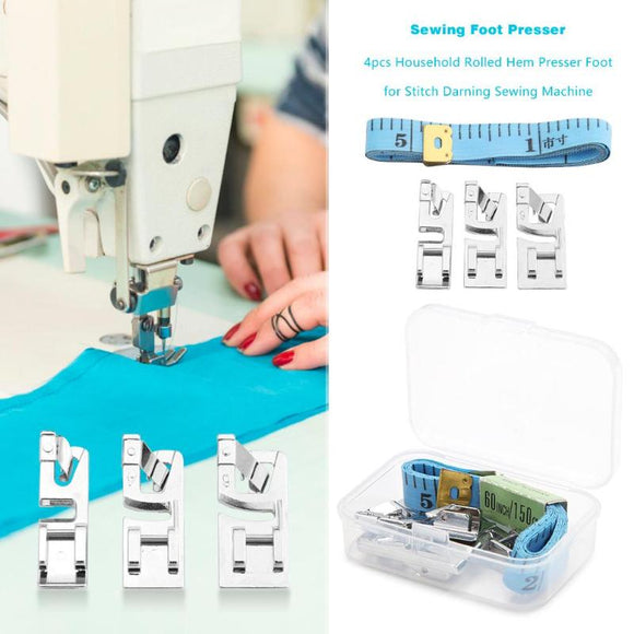 Sewing Machine Foot Pressers With Tape Measure