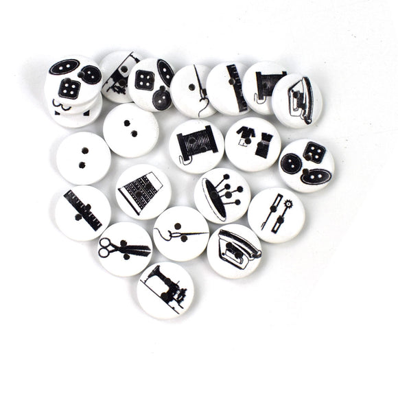 Sewing Tools Wooden Buttons - 100pcs/Pack