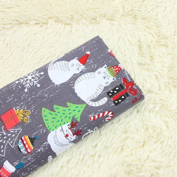 Christmas Wind Cat Cotton Fabric - 19.7