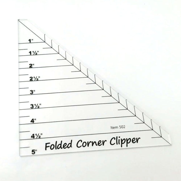 Folded Corner Clipper Ruler