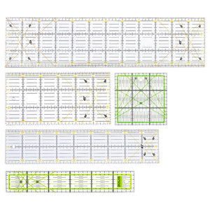Quilting Rulers Bundle Set - 5pcs/Pack