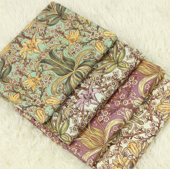 Orchids Print Cotton Fabric - 43.3
