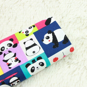 "Cute Panda Print Cotton Fabric - 39"" x 43"""