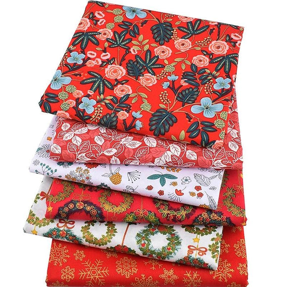 Red Series Christmas Brocade Fabric - 8.27