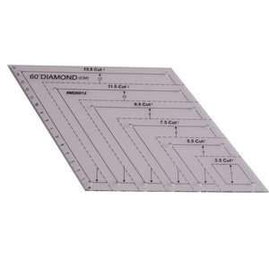 60-Degree Diamond Quilting Ruler