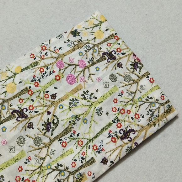 Spring Trees Print Twill Cotton Fabric - 19.7