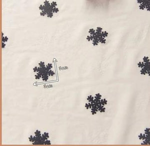 "Snowflakes Embroidered Mesh Fabric - 19.7"" x 59"""
