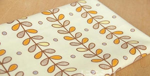 "Leaf Branches Print Twill Cotton Fabric - 44"" x 19.7"""