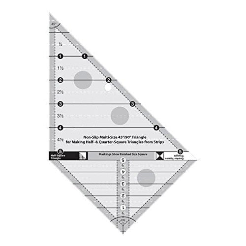 45 Degree and 90 Degree Triangle Quilting Ruler