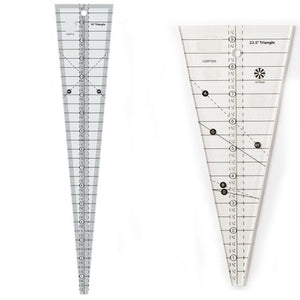 22.5° & 10° Triangle Ruler Quilting Ruler Bundle