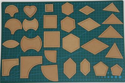 54-Piece Acrylic Quilt Template Pack