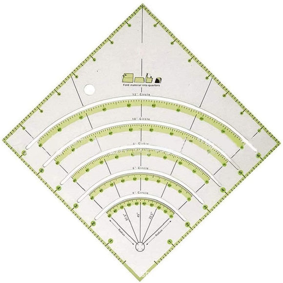 Arcs and Fans Quilt Circle Ruler Template