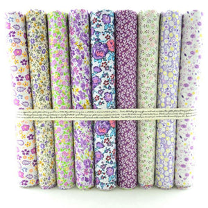 "QuiltersDeals.com - 9pc Design Pack - 19.7"" x 19.7"" - Purple Floral"