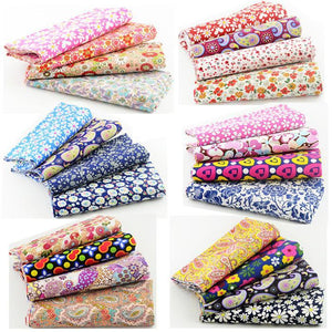 "24PCS 19.7"" x 19.7"" Paisley Floral Cotton Fabric Mega-Bundle"