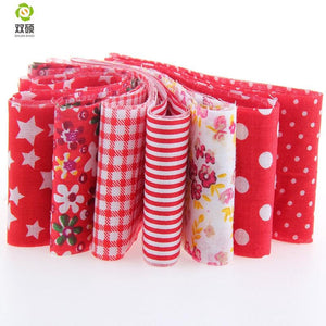 "Jelly Roll Pack - Red 7pcs 1.97"" x 39.3"" (5cm x 100cm)"