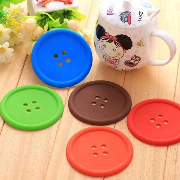 Sewing Button Shaped Drink Coasters