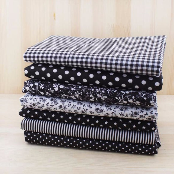 7pc Fabric Bundles Black