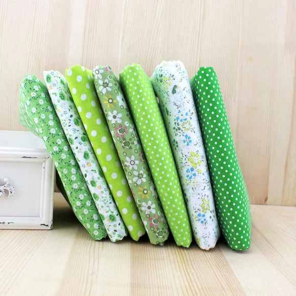 7pc Fabric Bundles Green