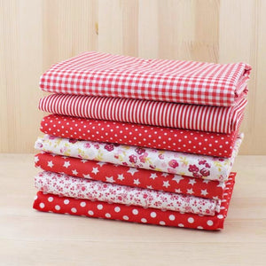 7pc Fabric Bundles Red