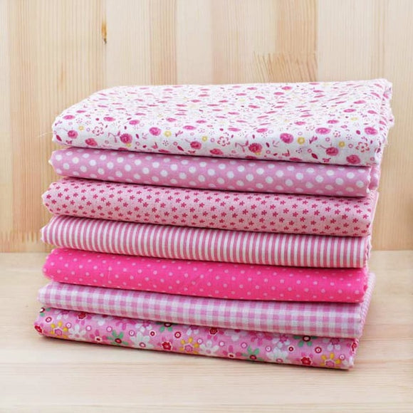 7pc Fabric Bundles Pink