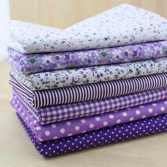 7pc Fabric Bundles Purple