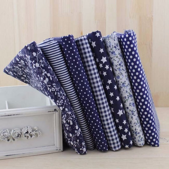 7pc Fabric Bundles Dark Blue