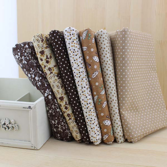 7pc Fabric Bundles Coffee