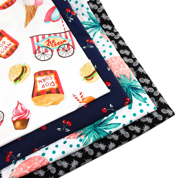 Sweets & Fruits Cotton Fabric - 50x145cm