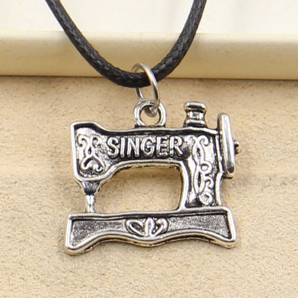 Tibetian Sewing Machine Pendant Necklace
