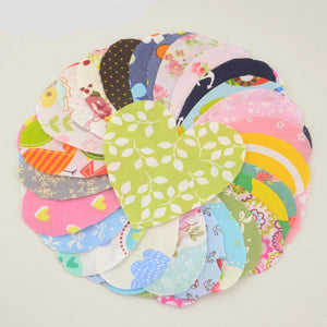 Ready To Sew Heart Shaped Patchwork - 30pcs/Pack