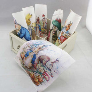 "Peter Rabbit Hand Dyed Cotton Fabric - 5.9"" x 5.9"" - 6pcs/Pack"
