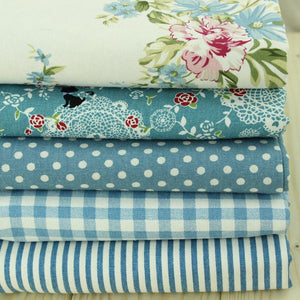 "Shabby Chic Twill Cotton Fabric - 19.7"" x 15.7"" - 5pcs/Pack"