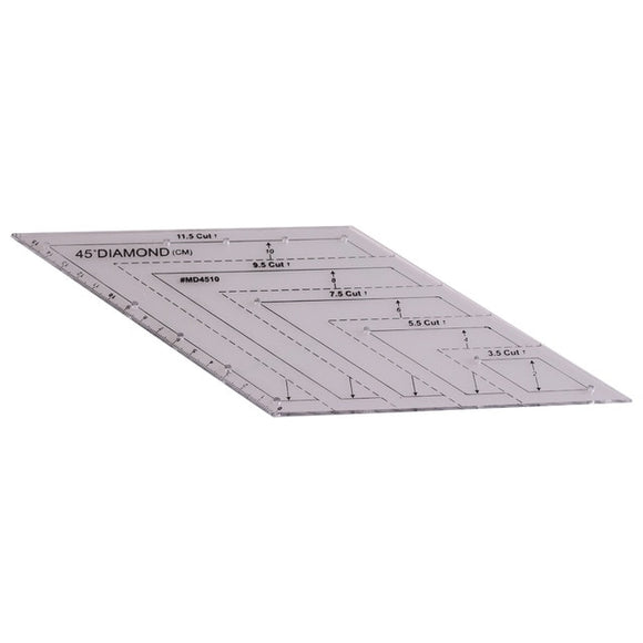 45-Degree Diamond Quilting Ruler