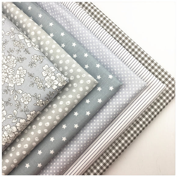 Printed Gray Fabric 6pcs/lot - 40x50cm