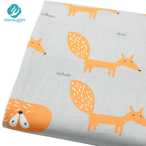 Fabric by Yard: Cartoon Fox Patterns