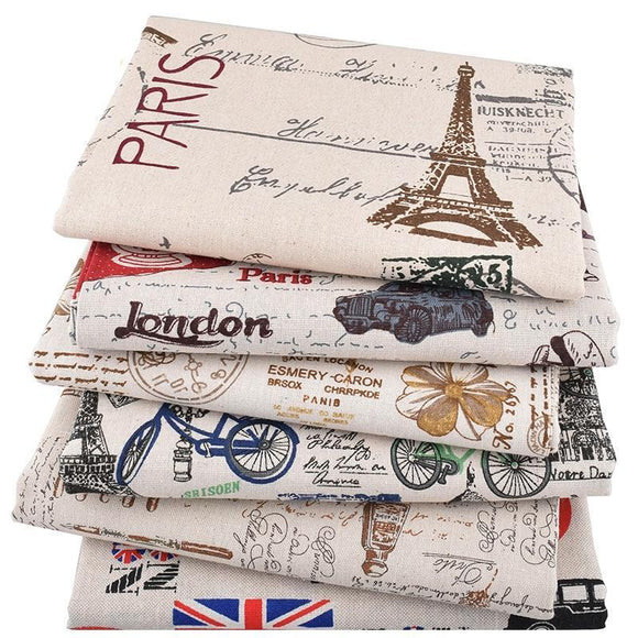 London Print Fabric 6pcs/lot - 25x45cm