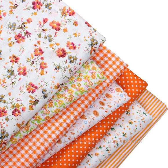 Orange 100% Cotton Fabric Cuts (7pc of 15.7