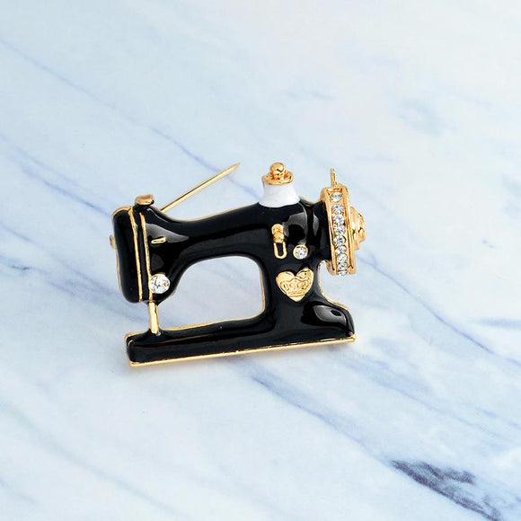 Sewing Machine Pin Brooch