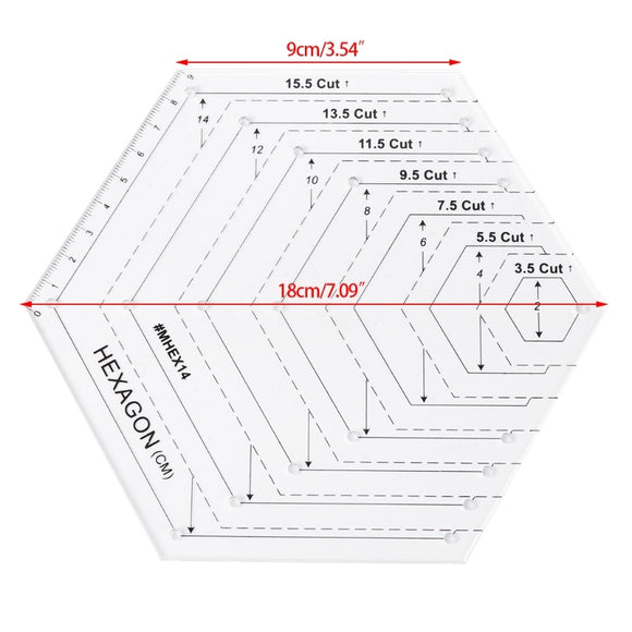 Hexagon Quilting Ruler