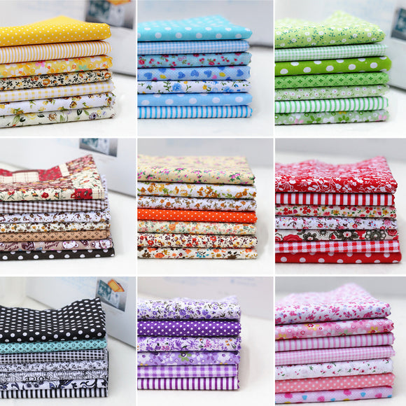 Printed Fabric Squares - 25x25cm (7pcs/lot)